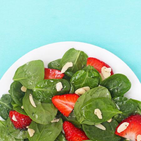 strawberry spinach salad from KidStir