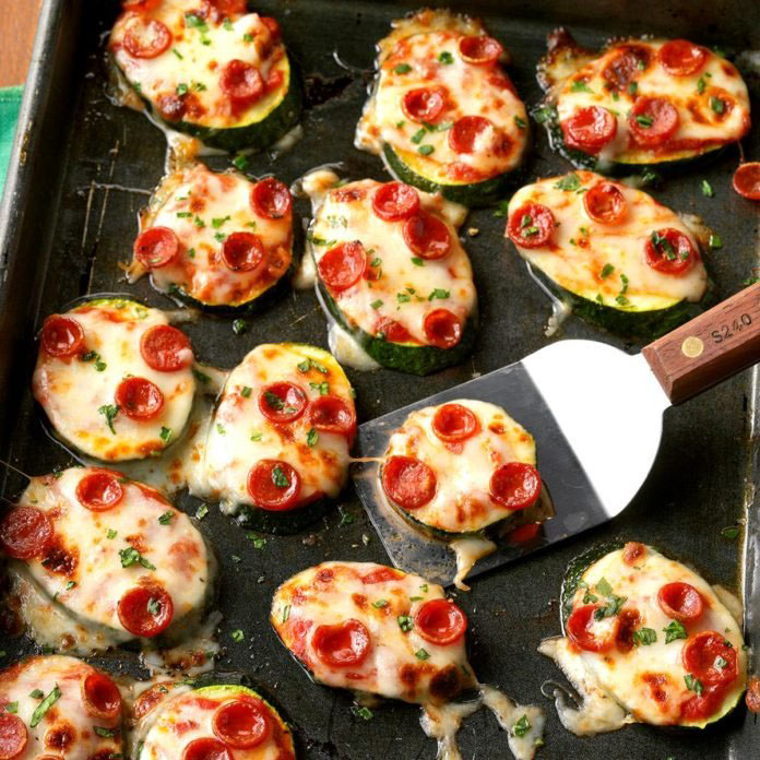 mini zucchini pizzas from Taste of Home