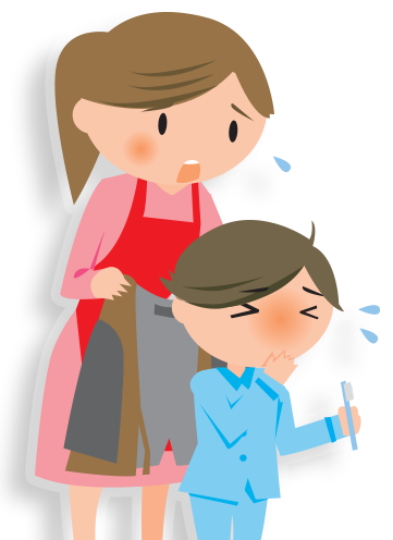 sick child clipart