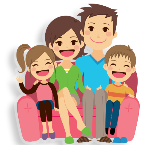clipart family on couch